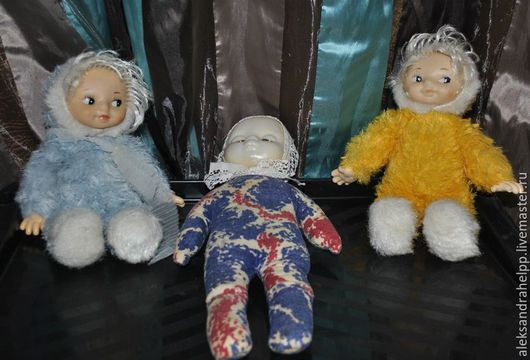 Винтажные куклы и игрушки. Ярмарка Мастеров - ручная работа. Купить - 30 %Винтажные куколки из СССР. Handmade. Комбинированный, резиновая, СССР