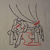 Картины и панно ручной работы. Ярмарка Мастеров - ручная работа В будуаре. Handmade.