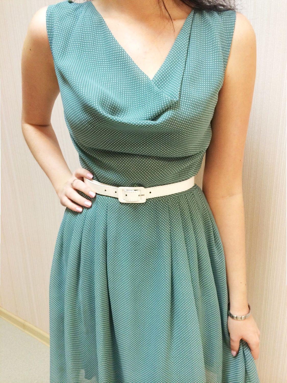 Купит шифоновое платье в горошек