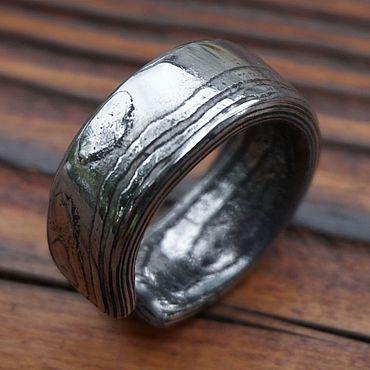 Украшения ручной работы. Ярмарка Мастеров - ручная работа Кольцо из дамасской стали. Handmade.