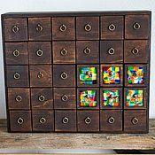 Для дома и интерьера ручной работы. Ярмарка Мастеров - ручная работа Картотека с мозаикой. Handmade.