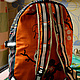 """Сумки и аксессуары ручной работы. Рюкзак """"Апельсин в полоску"""". 'Et cetera'. Интернет-магазин Ярмарка Мастеров. В полоску"""