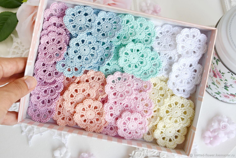 Set of 70pcs mini napkins in delicate colors 4cm, Scrapbooking Elements, Sosnovyj Bor,  Фото №1