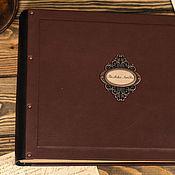 Канцелярские товары ручной работы. Ярмарка Мастеров - ручная работа Фотоальбом в кожаном переплете. Handmade.