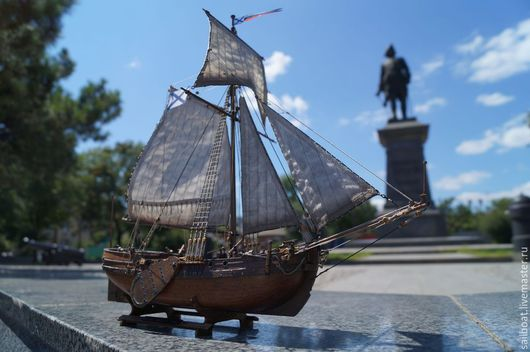 Подарки для мужчин, ручной работы. Ярмарка Мастеров - ручная работа. Купить Модель корабля Бот Святой Гавриил. Handmade. Моделирование