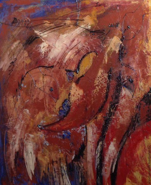 """Абстракция ручной работы. Ярмарка Мастеров - ручная работа. Купить Картина """"Лиса"""". Handmade. Живопись, абстрактный, лисичка, абстракционизм, живопись"""