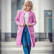 Одежда handmade. Livemaster - original item Cardigan pink. Handmade.