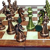 Сувениры и подарки handmade. Livemaster - original item Chess Classic, 30x30 cm, wood,shape metal.. Handmade.