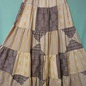 Одежда ручной работы. Ярмарка Мастеров - ручная работа Юбка из хлопка Для дома и Отдыха длинная. Handmade.