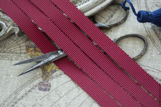 Для украшений ручной работы. Ярмарка Мастеров - ручная работа. Купить Лента репсовая грубая Бордо 10мм, 10см. Handmade.