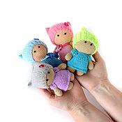 Мягкие игрушки ручной работы. Ярмарка Мастеров - ручная работа Вязаные игрушки Цветные пупсы. Handmade.
