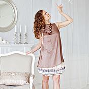 Одежда ручной работы. Ярмарка Мастеров - ручная работа Платье коктейльное из шёлка. Handmade.