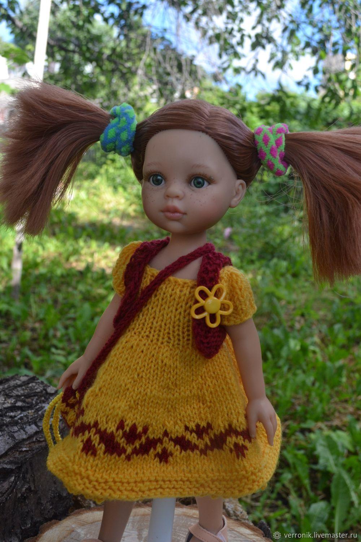 "Платье, жилет, сумка  для куклы Paola Reina ""Аришка "", Одежда для кукол, Самара,  Фото №1"