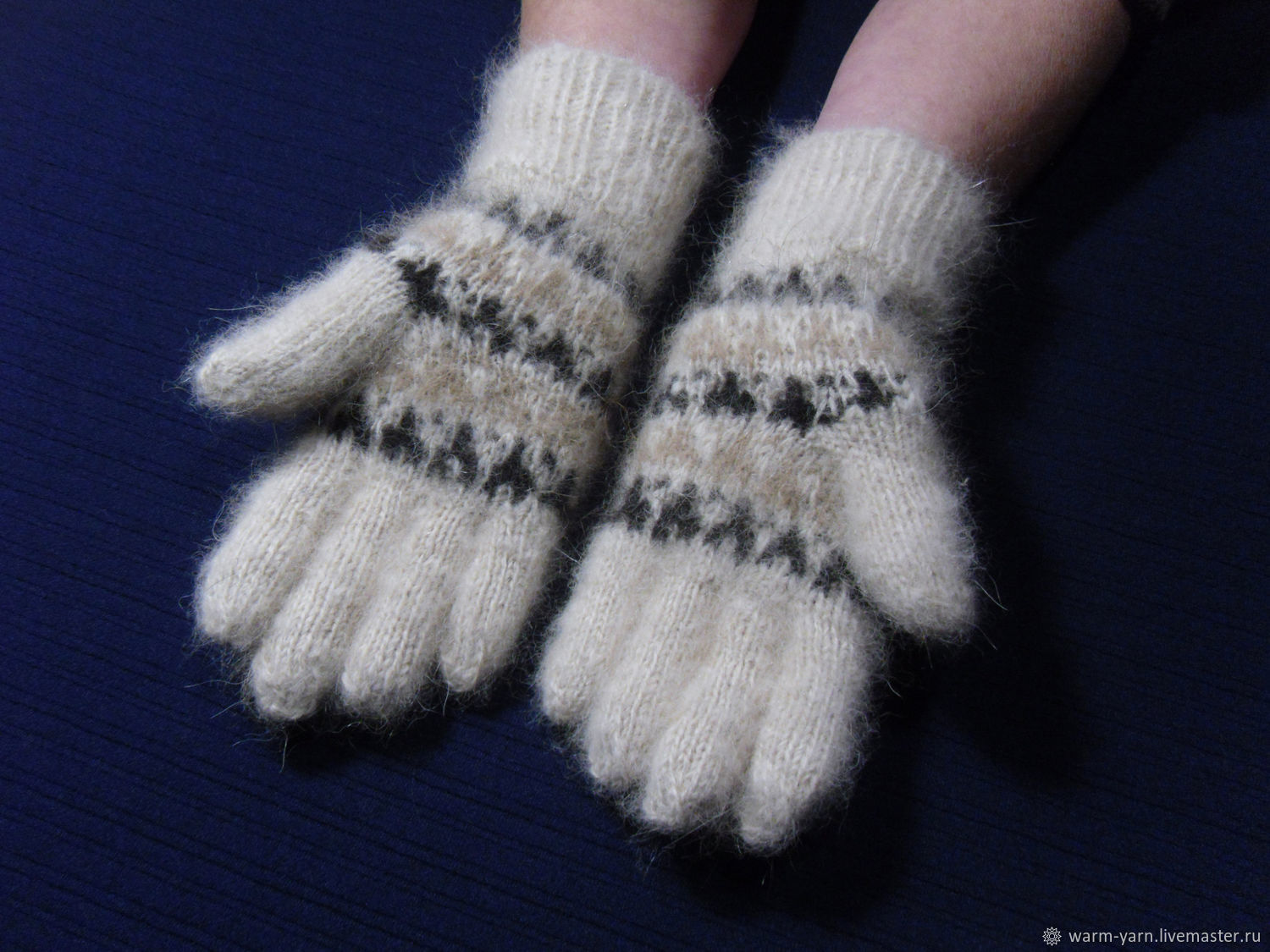 Women's knitted gloves, Gloves, Klin,  Фото №1