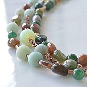 Работы для детей, handmade. Livemaster - original item Multi-row beads Adriatic. Handmade.