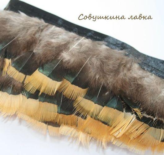 Другие виды рукоделия ручной работы. Ярмарка Мастеров - ручная работа. Купить Перья фазана на ленте (разные). Handmade. Перья