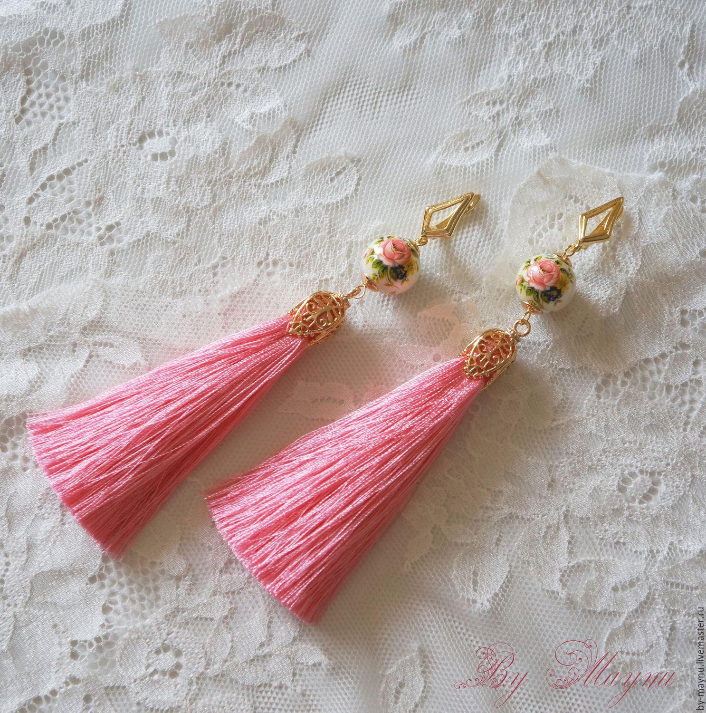 """Long earrings """"Russian beauty"""", Earrings, Moscow,  Фото №1"""