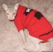 """Для домашних животных, ручной работы. Ярмарка Мастеров - ручная работа Свитер """"Кот"""". Handmade."""