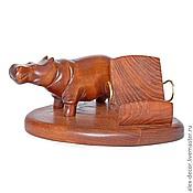 Сувениры и подарки ручной работы. Ярмарка Мастеров - ручная работа Подставка под смартфон Hippopotamus. Handmade.
