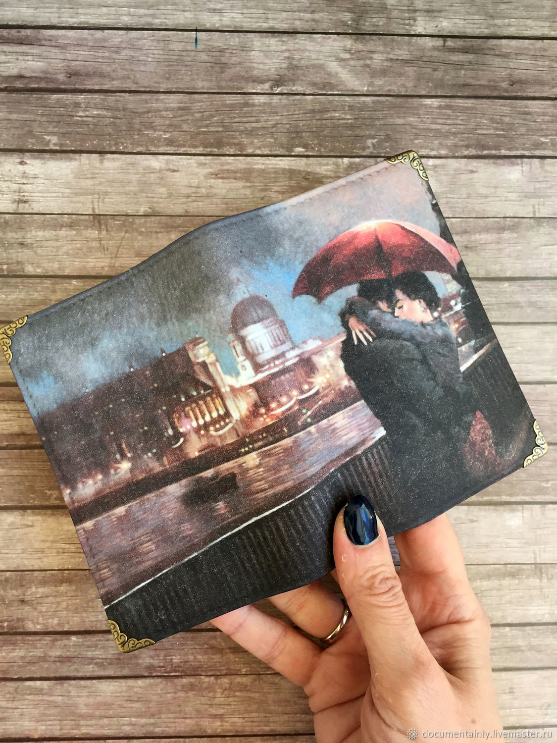 Passport cover avtodokumentov or 'Under the umbrella', Passport cover, Obninsk,  Фото №1