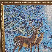Картины и панно ручной работы. Ярмарка Мастеров - ручная работа олени. Handmade.