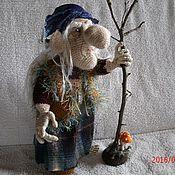 Куклы и игрушки ручной работы. Ярмарка Мастеров - ручная работа Баба Яга в синем платочке. Handmade.