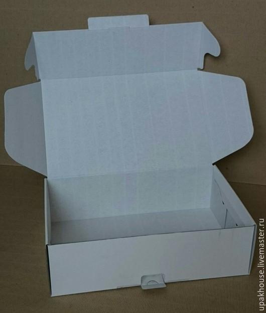 Упаковка ручной работы. Ярмарка Мастеров - ручная работа. Купить Самосборная коробка с ушками и замком. Handmade. Простая упаковка, белый