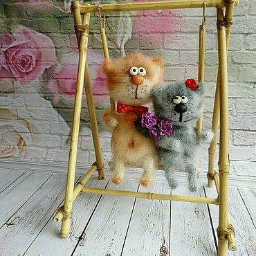 """Куклы и игрушки ручной работы. Ярмарка Мастеров - ручная работа """"Влюбленные коты"""". Handmade."""