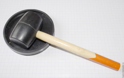 Другие виды рукоделия ручной работы. Ярмарка Мастеров - ручная работа. Купить Киянка резиновая + круглый коврик. Handmade.