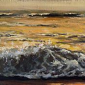 """Картины и панно ручной работы. Ярмарка Мастеров - ручная работа Авторская картина """" золотая волна"""". Handmade."""