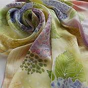 Аксессуары ручной работы. Ярмарка Мастеров - ручная работа Шелковый шарф Французкие Гортензии. Handmade.