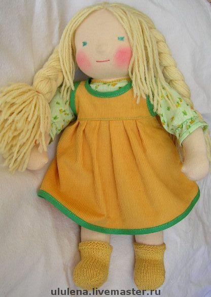 Вальдорфская игрушка ручной работы. Ярмарка Мастеров - ручная работа. Купить Вальдорфская кукла. Handmade. Вальдорфская кукла, хлопок