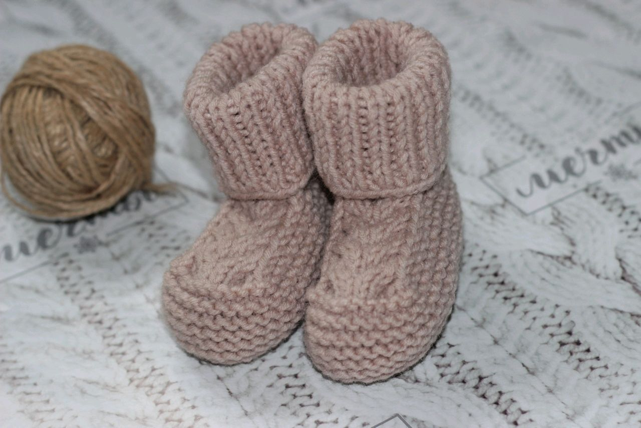 Knitted booties for babies, Babys bootees, Stupino,  Фото №1