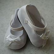 Куклы и игрушки ручной работы. Ярмарка Мастеров - ручная работа Белые туфельки для кукол беби бон ( baby born ). Handmade.