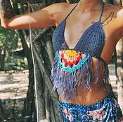 """Одежда ручной работы. Ярмарка Мастеров - ручная работа Вязанный топ крючком """"Rainbow"""". Handmade."""
