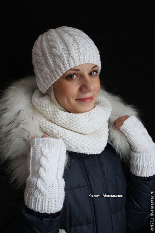 set 'Queen Margot' Snood beanie mitts, Headwear Sets, Novokuznetsk,  Фото №1