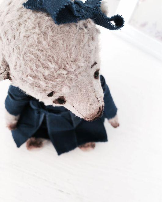 Мишки Тедди ручной работы. Ярмарка Мастеров - ручная работа. Купить Кирочка (в технике Тедди). Handmade. Мишка, лён