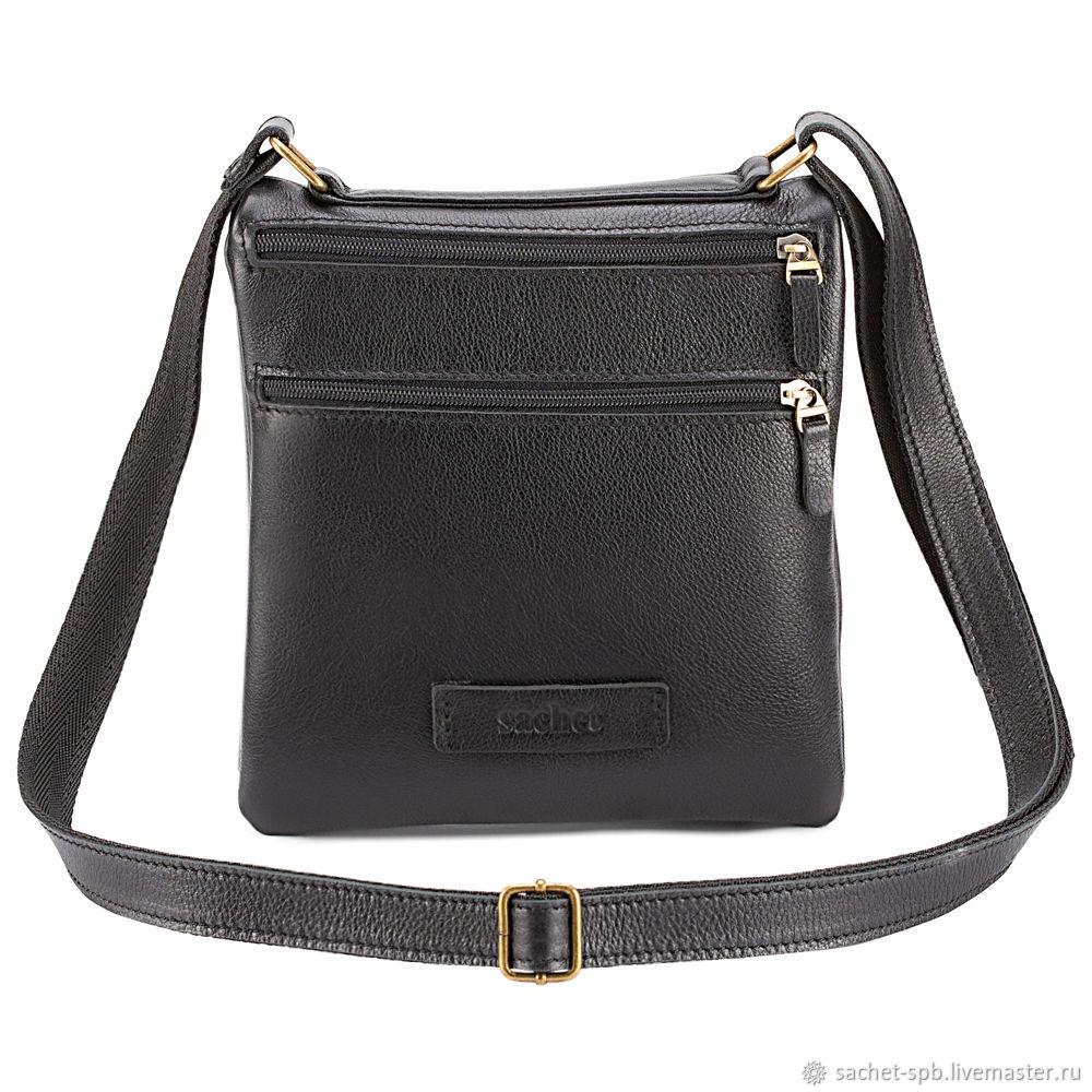 Leather bag 'Caesar' (black), Tablet bag, St. Petersburg,  Фото №1