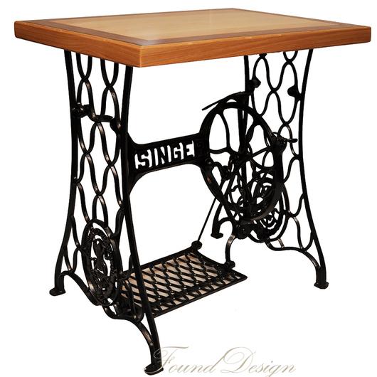 Мебель ручной работы. Ярмарка Мастеров - ручная работа. Купить Столик из ясеня на станине от швейной машинки Зингер. Handmade. Разноцветный