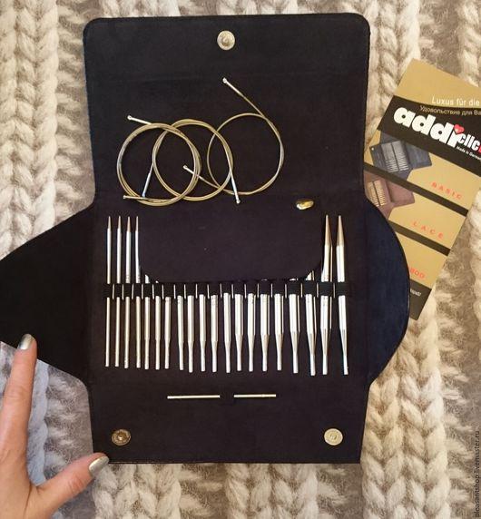 Вязание ручной работы. Ярмарка Мастеров - ручная работа. Купить Набор AddiClick BASIC. Handmade. Черный, addi, спицы на леске