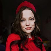Русский стиль handmade. Livemaster - original item Kokoshnik RED VELVET. Handmade.
