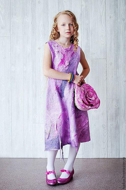 """Одежда для девочек, ручной работы. Ярмарка Мастеров - ручная работа. Купить Платье валяное """"Кристина"""". Handmade. Платье валяное"""