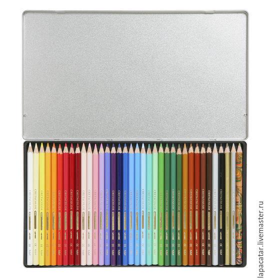 Другие виды рукоделия ручной работы. Ярмарка Мастеров - ручная работа. Купить Акварельные карандаши BIBA с толстым стержнем 36 цветов в металле.. Handmade.
