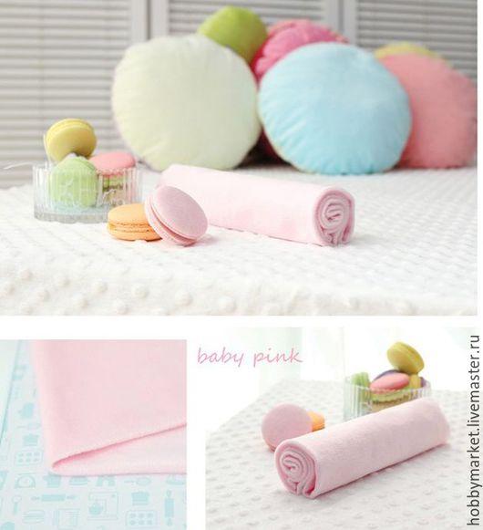 Шитье ручной работы. Ярмарка Мастеров - ручная работа. Купить Плюш на трикотажной основе ( бледно розовый). Handmade. Ткань