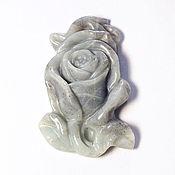 Материалы для творчества ручной работы. Ярмарка Мастеров - ручная работа Резной кулон в виде розы из амазонита. Handmade.