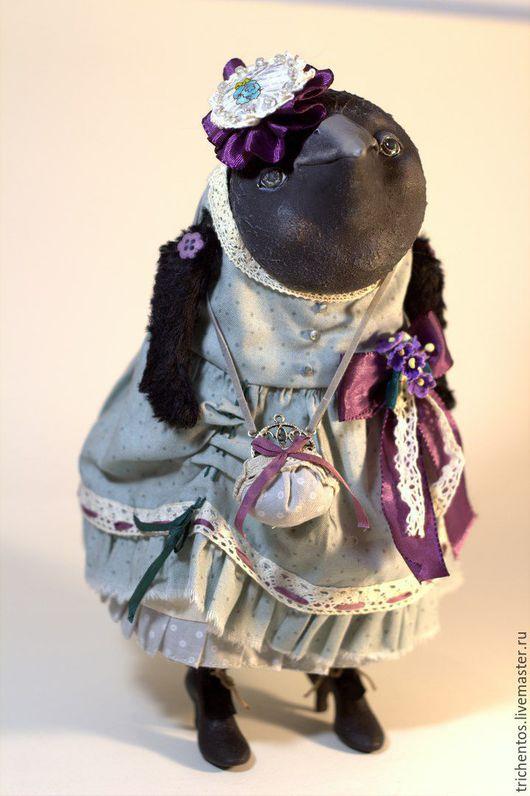 Коллекционные куклы ручной работы. Ярмарка Мастеров - ручная работа. Купить Ворона Виолетта / Violetta. Handmade. Морская волна