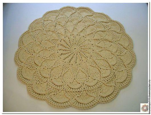 Текстиль, ковры ручной работы. Ярмарка Мастеров - ручная работа. Купить ковер ручной работы вязаный из шнура Зимняя сказка. Handmade.