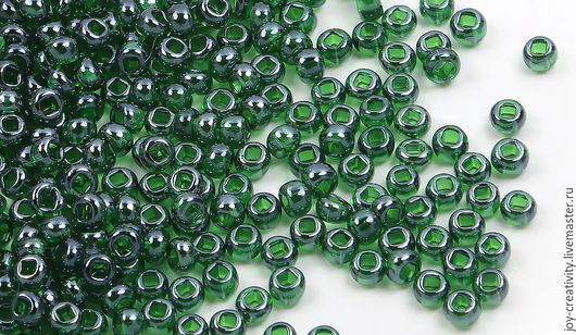 Для украшений ручной работы. Ярмарка Мастеров - ручная работа. Купить Бисер 10 разм. 10 гр, зеленый, Preciosa. Handmade.