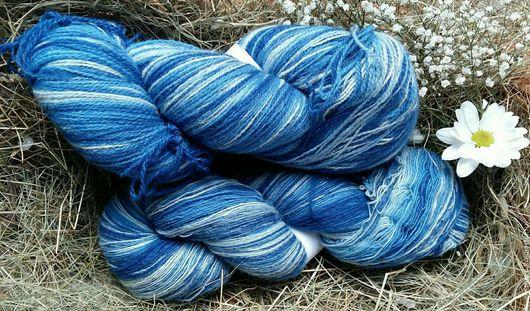 Вязание ручной работы. Ярмарка Мастеров - ручная работа. Купить Кауни Blue. Handmade. Комбинированный, кауни пряжа, Новозеландская шерсть