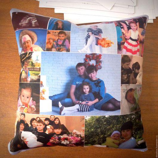 Персональные подарки ручной работы. Ярмарка Мастеров - ручная работа. Купить Подушка с фотографией подарок девушке подарок на день рождения мужу. Handmade.
